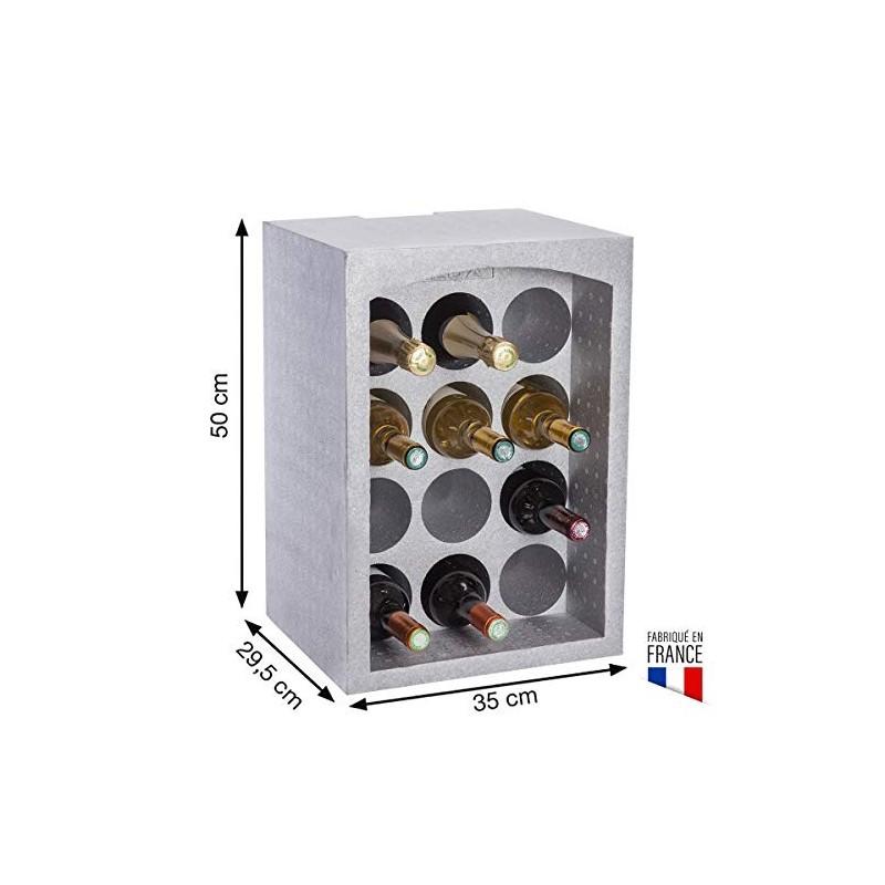 eda plastiques  casier polystyrÈne 12 bouteilles  10710