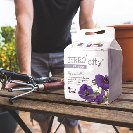 TERRO CITY | Terreau Fleurs | révolutionnez Le Jardinage Urbain avec Le terreau Simple et Facile, 3 étapes en 5 Minutes !