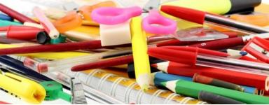 Fournitures de bureau, d'école et papeterie